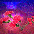 Impressions Of Pink Carnations by Joyce Dickens
