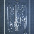 Improvement To Muzzle-loading Fire-arm - Vintage Patent Blueprint by Serge Averbukh