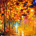 Improvisation Of Trees - Palette Knife Oil Painting On Canvas By Leonid Afremov by Leonid Afremov