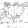 In A Baseball Game by Michael Crawford
