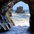 In A Cave By The Sea - Northern Caifornia by Mark E Tisdale