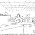 In A Courtroom by Paul Noth
