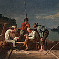 In A Quandary, Or Mississippi Raftsmen by George Caleb Bingham