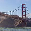 In Flight Over Golden Gate by Scott Campbell