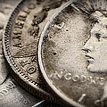 In God We Trust_silver Dollars by Kathleen K Parker