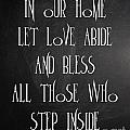 In Our Home Let Love Abide by Voros Edit