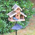 In The Birdhouse - Oil by Image Takers Photography LLC - Carol Haddon