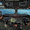 In The Cockpit Of A Kc-135 Stratotanker  by Mountain Dreams