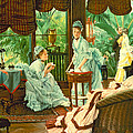 In The Conservatory  by James Jacques Tissot