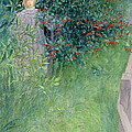 In The Hawthorn Hedge by Carl Larsson