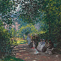 In The Park Monceau by Cluade Monet