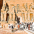 In The Presence Of Ramses II At Abu Simbel by Mark E Tisdale