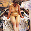 In Werners Rowing Boat by Anders Zorn