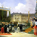 Inauguration Of A Monument In Memory Of Louis Xvi 1754-93 By Charles X 1757-1836 At The Place De La by Joseph Beaume