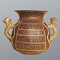 Inca Vase With Geometric Decoration by Everett
