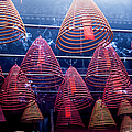 Incense Coils In Tin Hau Temple, Yau Ma by Jenny Jones
