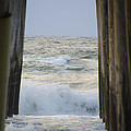 Incoming Tide At 32nd Street Pier Avalon New Jersey by Bill Cannon
