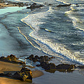 Incoming Waves At Bandon Beach Oregon by Tim Fitzharris
