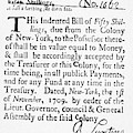 Indented Banknote, 1709 by Granger