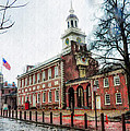 Independence Hall From Chestnut Street by Bill Cannon