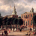 Independence Hall In Philadelphia by Ferdinand Richardt