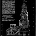 Independence Hall Transverse Section - Philadelphia by Daniel Hagerman