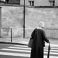 Independence - Street Crosswalk - Woman by Nikolyn McDonald