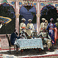 India  British Colonial Era  Banquet At The Palace Of Rais In Mynere by Hildibrand