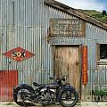 Indian Chout At The Old Okains Bay Garage 1 by Frank Kletschkus