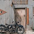 Indian Chout At The Old Okains Bay Garage 3 by Frank Kletschkus