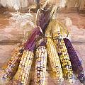 Indian Corn Painterly Effect by Carol Leigh