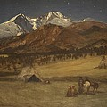 Indian Encampment - Evening by Albert Bierstadt