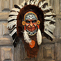 Indian Headdress In  Brown by Jay Milo