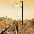 Indian Hinterland Railroad Track by Kantilal Patel