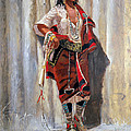 Indian Maid At Stockade By Charles Marion Russell by Pg Reproductions