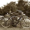 Indian Camelback Motorcycle Circa 1908 by California Views Mr Pat Hathaway Archives