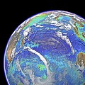 Indian Ocean, Chlorophyll And Bathymetry by Science Photo Library