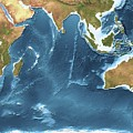 Indian Ocean Sea Floor Topography by Planetary Visions Ltd/science Photo Library
