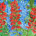 Indian Paintbrush And Bluebonnets by Patricia Beebe