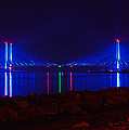 Indian River Inlet Bridge After Dark by Bill Swartwout Photography