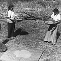 Indian Women Winnowing Wheat by Underwood Archives Onia