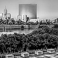 Indiana - Downtown From Across White River Panoramic by Ron Pate