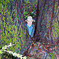 Indiana Jones In Armstrong Redwoods State Preserve Near Guerneville-ca by Ruth Hager