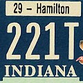 Indiana License Plate by Jeelan Clark