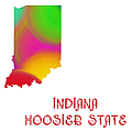 Indiana State Map Collection 2 by Andee Design