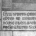 Indiana University Memorial Hall Inscription by University Icons