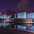 Indianapolis Canal Walk Medal Of Honor Memorial Night Lights by David Haskett II