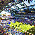 Indianapolis Colts Lucas Oil Stadium Painted Digitally by David Haskett II