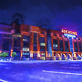 Indianapolis Colts Lucas Oil Stadium Painted Digitally Night Lights by David Haskett II