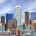 Indianapolis Indiana Skyline by Dave Lee